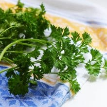 Why three times? How to prep parsley for tabbouleh.
