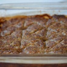 Baked Kibbeh: You say meatloaf, I say meatlove