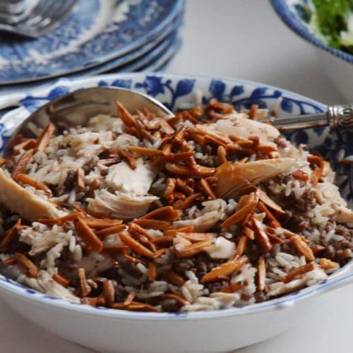 Lebanese hushweh, chicken rice pilaf