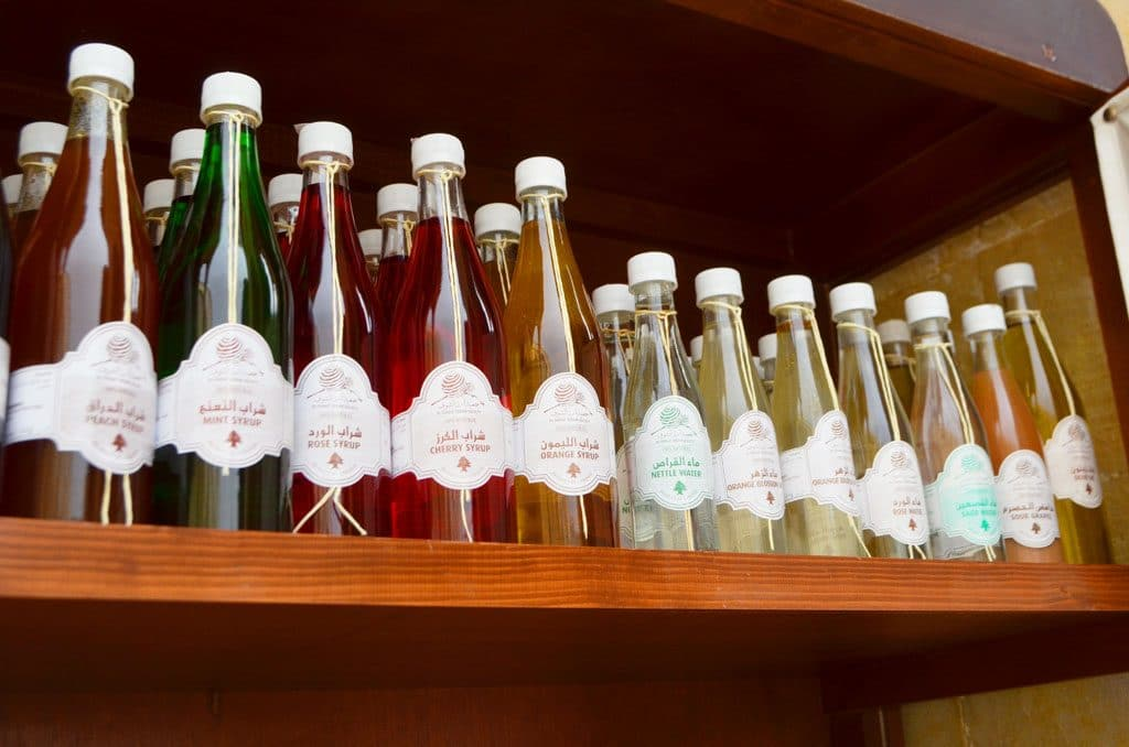 Syrups in Lebanon on a shelf, Maureen Abood
