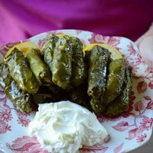 Lebanese Grape Leaf Rolls, a taste of Dier Mimas