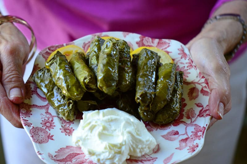 Lebanese Grape Leaf Rolls A Taste Of Dier Mimas Rose Water Orange Blossoms