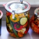 Mixed pickles in a weck jar