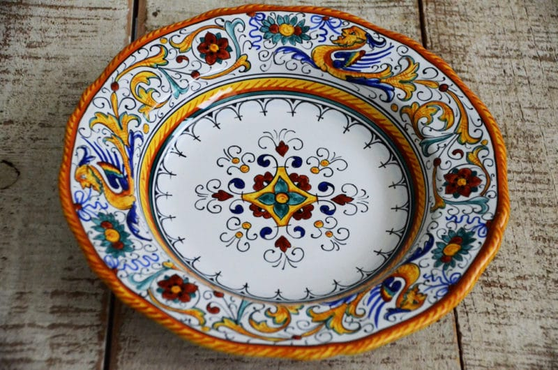 Favorite Things Italian Pottery Soup Bowls Rose Water