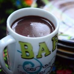 Thick hot chocolate, MaureenAbood.com