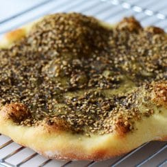 Manoushe with Za'atar, MaureenAbood.com