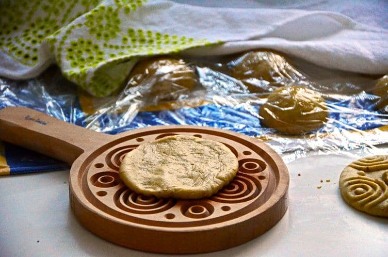Kaik mold with dough, Maureen Abood