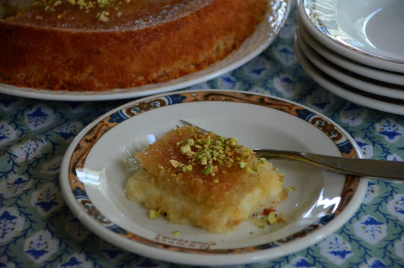 Knafeh slice, Maureen Abood