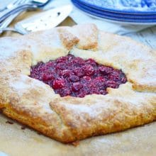 Sour Cherry Galette with Cream Cheese Crust