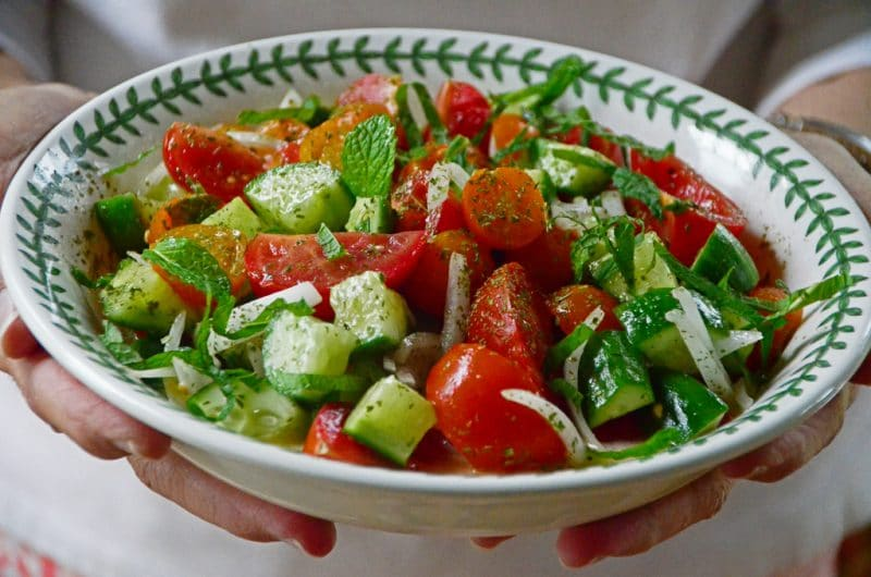 Cucumber Tomato Salad, Maureen Abood.com