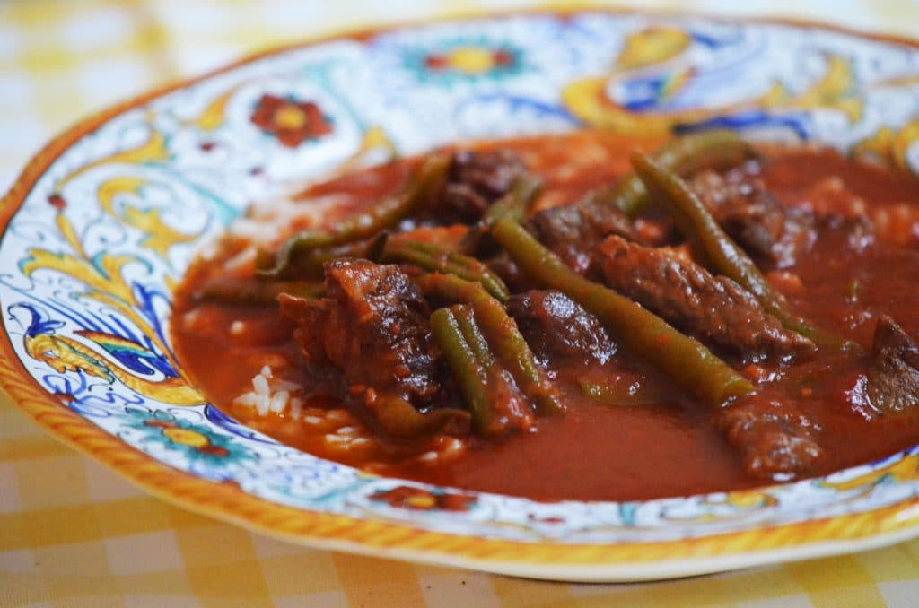 Lebanese green bean stew, Maureen Abood