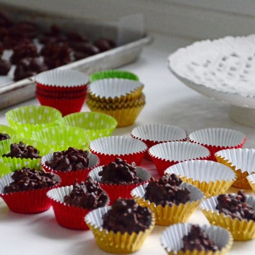 Hand-dipped chocolates in foil cups, MaureenAbood.com
