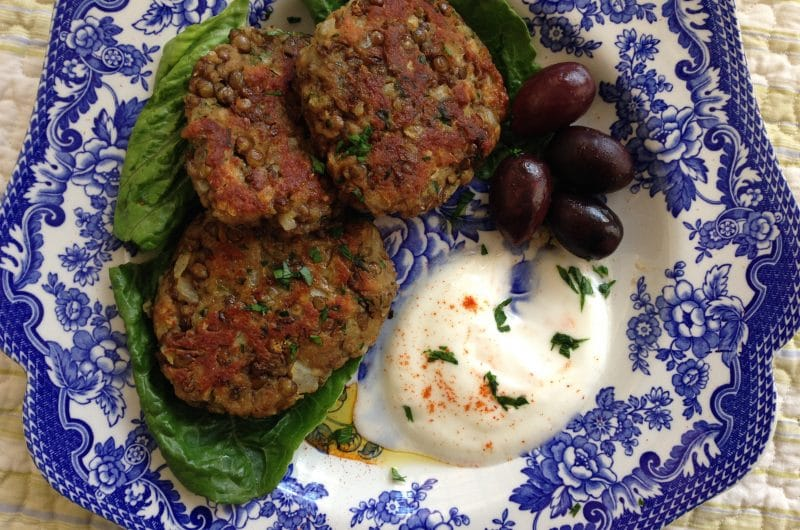 Crisp Lentil Patties, MaureenAbood.com
