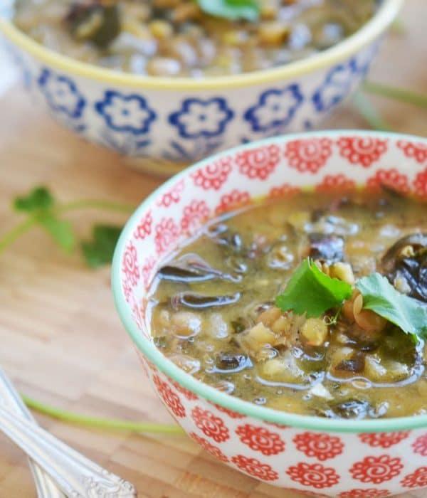 Garlicky Lentil Soup, MaureenAbood.com