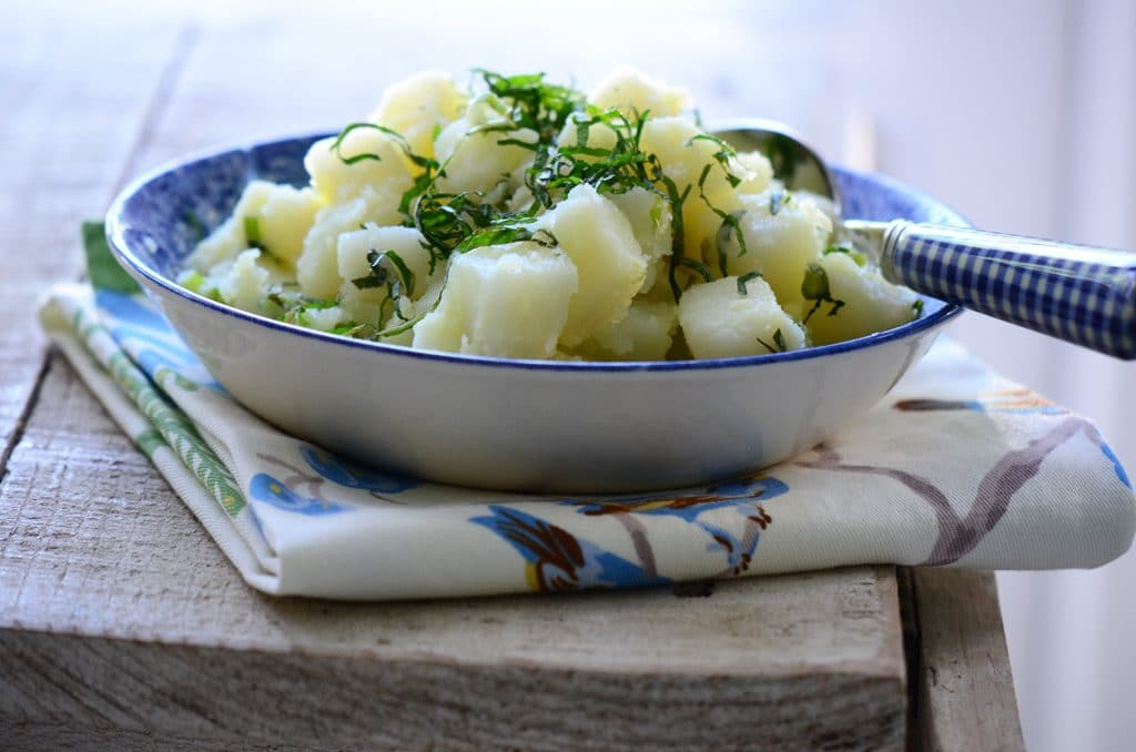 Lebanese Potato Salad, MaureenAbood.com