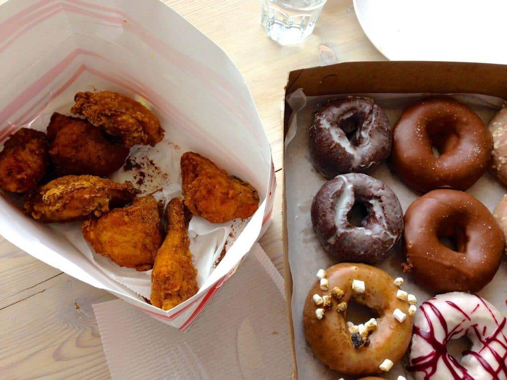 Chicken and donuts, Maureen Abood