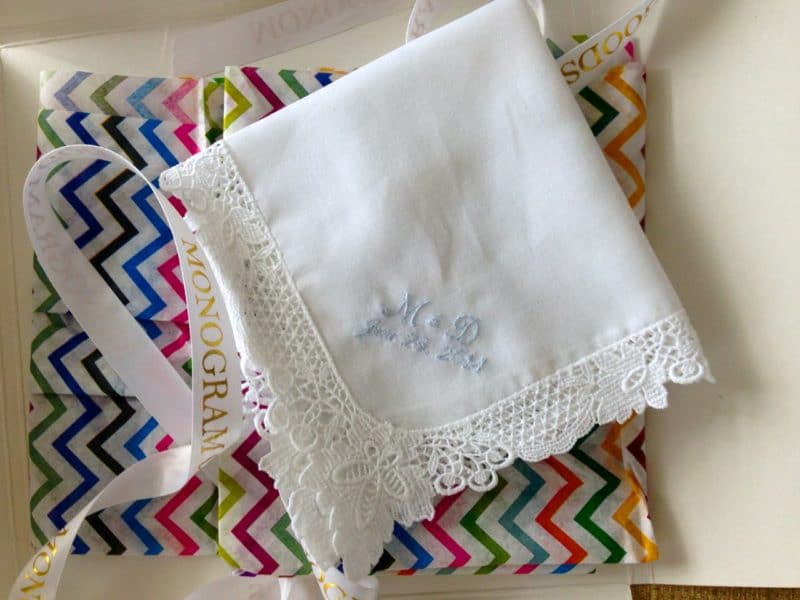 Monogram hankie, Maureen Abood
