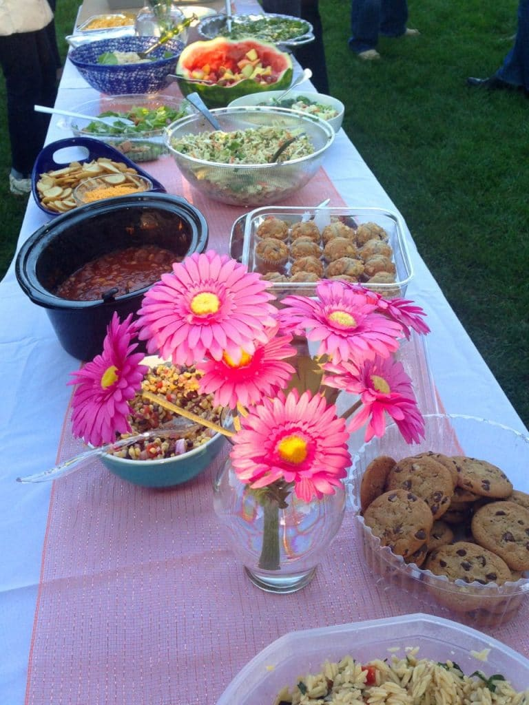 Pot luck buffet, Maureen Abood