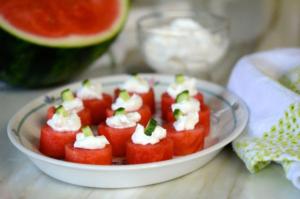 Watermelon bites with melon, Maureen Abood