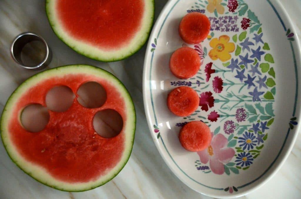 Watermelon cutouts, Maureen Abood