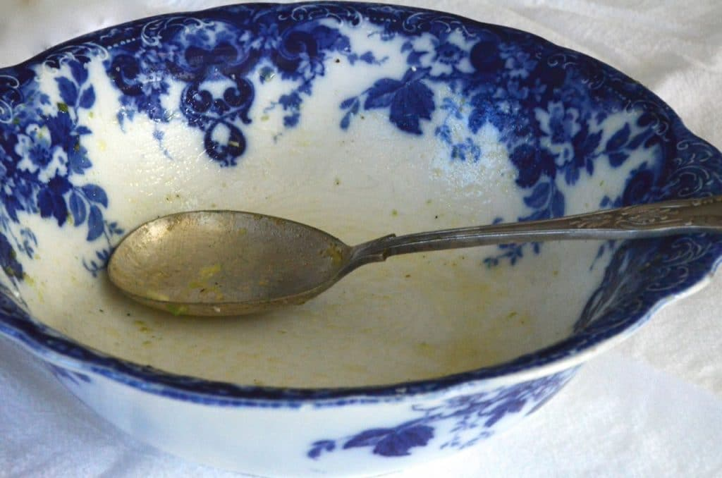 Blue salad bowl, Maureen Abood