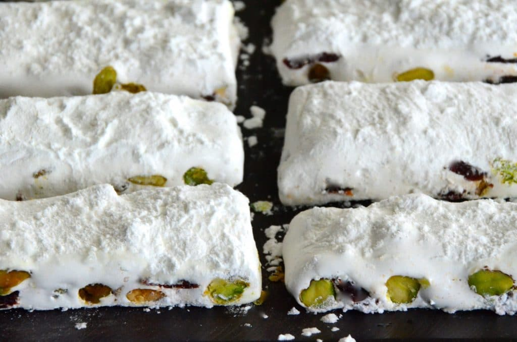 Nougat slices on a board, Maureen Abood