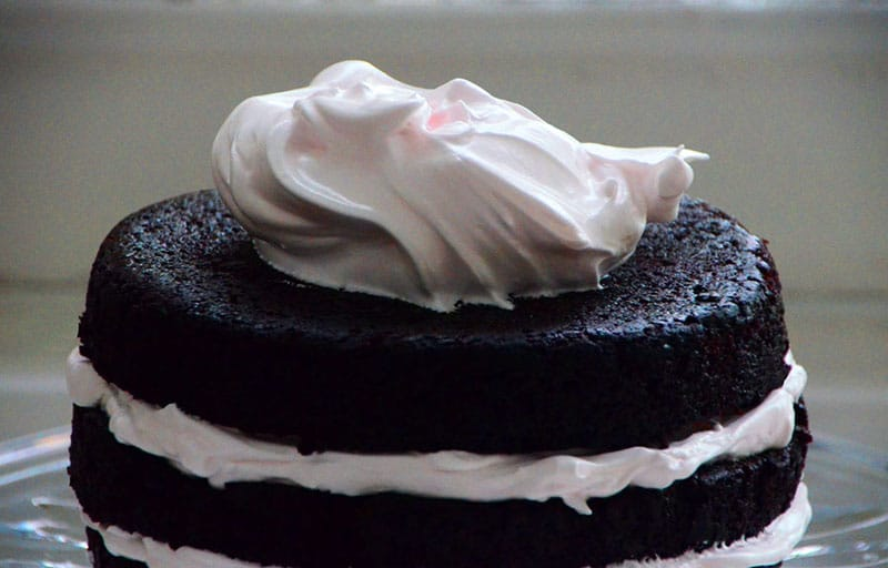 Chocolate cake Fluffy icing, Maureen Abood