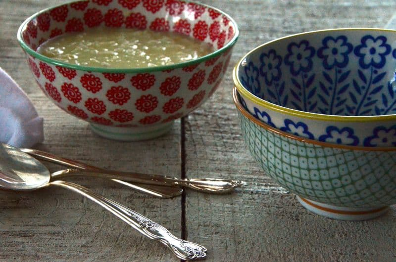 Soup bowls and spoons, Maureen Abood