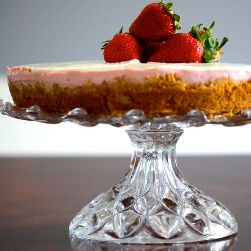 Strawberry Rose Cheesecake, MaureenAbood.com