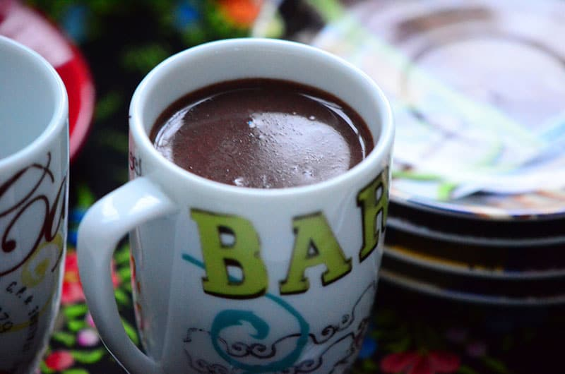 Thick hot chocolate size, Maureen Abood