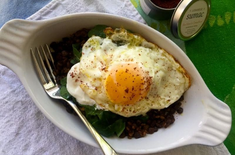 Mujadara with a Fried Egg, MaureenAbood.com