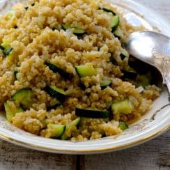 Toasted Bulgur Pilaf with Zucchini, MaureenAbood.com