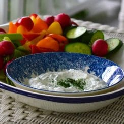 Labneh dip with Garlic and Herbs, MaureenAbood.com
