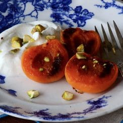 Broiled Apricots with Labneh, MaureenAbood.com
