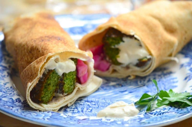Fresh Herb Falafel Wrap, Maureen Abood