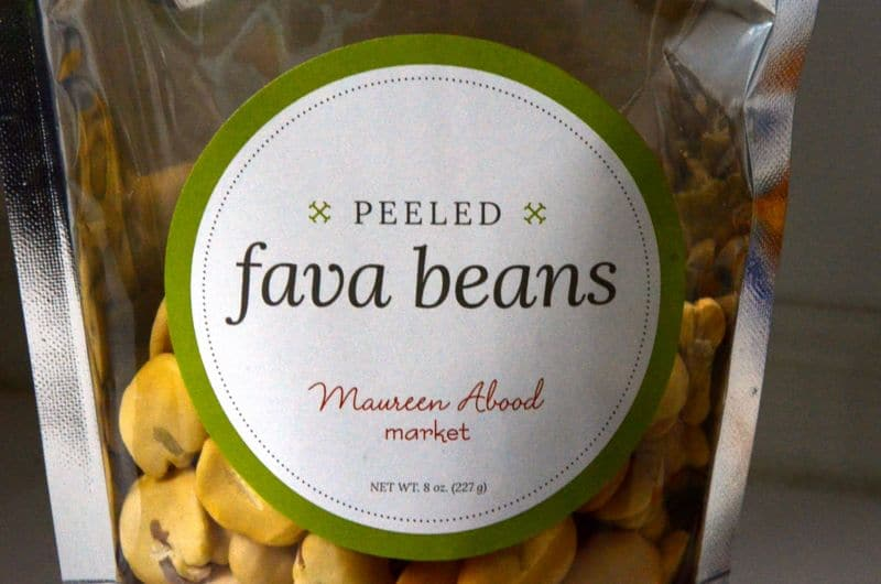 Peeled Fava Bean label, Maureen Abood Market