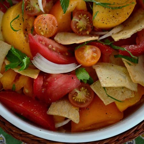 Tomato bread salad, Maureen Abood