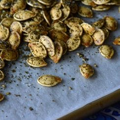 Za'atar roasted pumpkin seeds, Maureen Abood