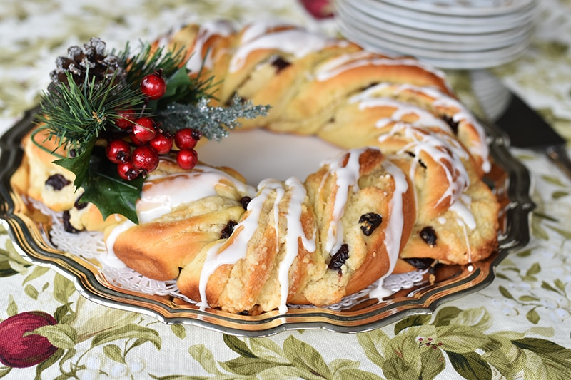 Christmas Breakfast Wreath side, Maureen Abood