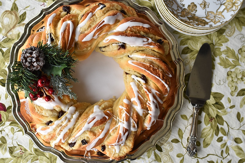Christmas Breakfast Wreath top, Maureen Abood