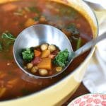 Vegetable Soup with Chickpeas and Kale, MaureenAbood.com