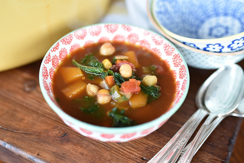 Lebanese Veg, Chickpea and Kale Soup, Maureen Abood