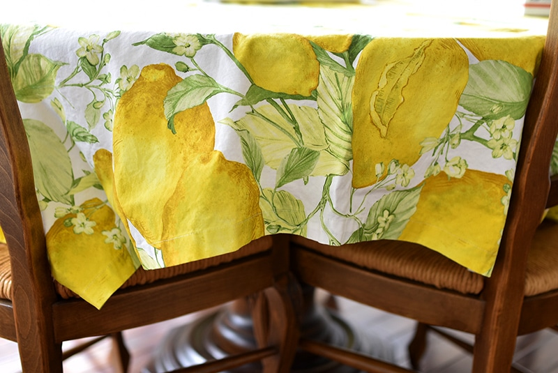 Lemon tablecloth, Maureen Abood