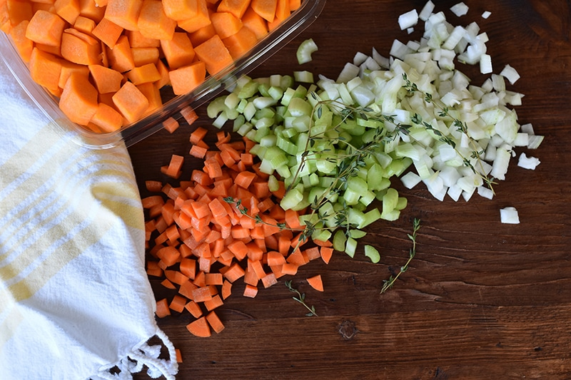Mirepoix for Lebanese Veg soup, Maureen Abood