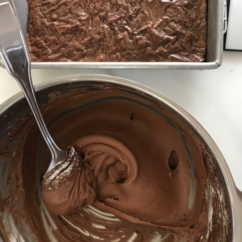 Brownies with perfect chocolate buttercream