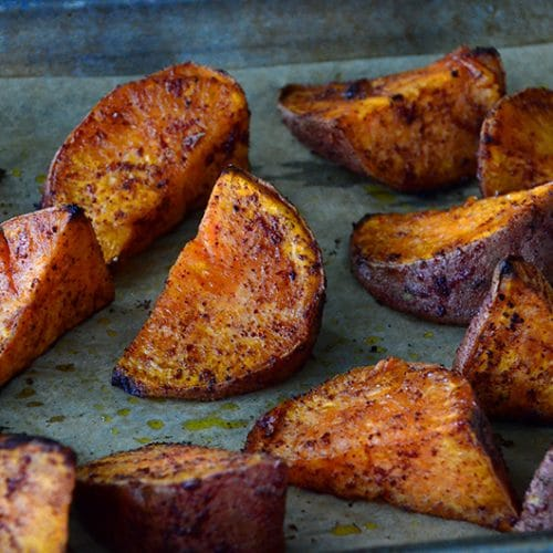 Sumac Roasted Sweet Potatoes, MaureenAbood.com