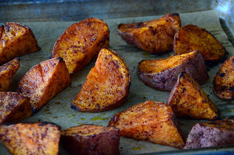 Sumac Roasted Sweet Potatoes, Maureen Abood
