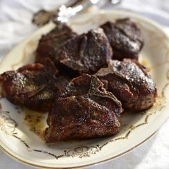Seared Lamb Chops with Mint Salt,, Maureen Abood