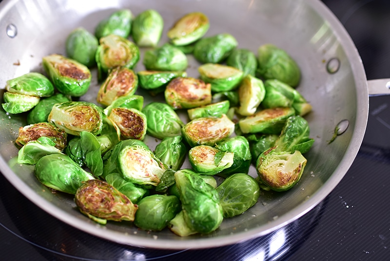 Brussels Sprout saute, Maureen Abood