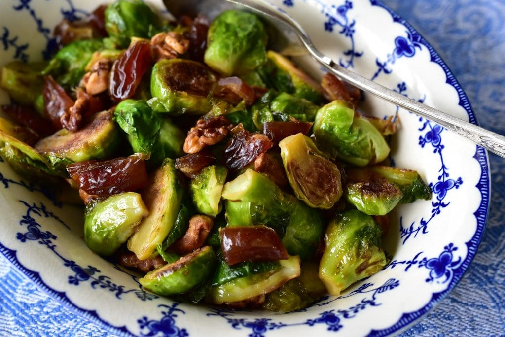 Brussels Sprouts with Dates and Walnuts 2